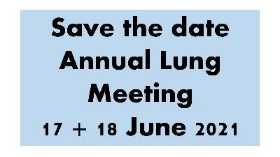 Save the date - Annual Lung Meeting 2021